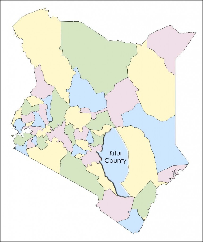 Kitui County within southeast Kenya
