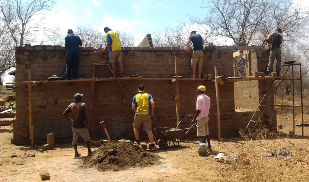 Exchange students building a classroom at MPC South